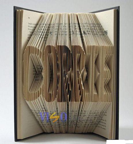 書本雕琢成這樣,超牛吧!