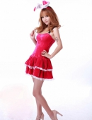 可愛粉紅短裙驚豔小MM