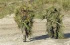 軍人偽裝練習
