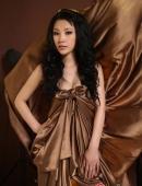 高清:寶貝徐黛妮華麗寫真 金色禮服顯高貴