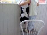 小朋友你抱著狗看,你就不怕狗急跳牆呀?