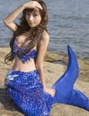 劉詩涵的人魚裝照片2組圖