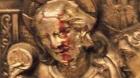 """耶穌雕像的頭部""""流血"""""""