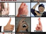 如何比各個國家比中指