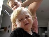 兒子最討厭理髮... 回想當年, 我也是如此...