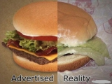 广告和现实的差距