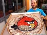 下午茶時間~~送上怒鳥的披薩給大家