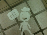 上廁所時發覺有雙熱情的視線盯著我瞧.....