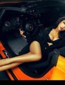 速度與激情性感美女車模