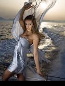 歐美性感模特與大海