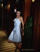 麗質性感藍裙子