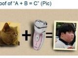 試著證明 A + B = C