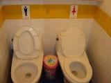 沒錯,男廁女廁還是要分清楚點的好,注意別坐錯了呦~