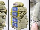 電話薄雕塑