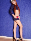 魅力腿模制服裝誘惑寫真