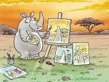 原來犀牛看出去的世界是這樣~~真是辛苦牠了!!