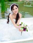 台灣果子MM清純婚紗唯美寫真圖片