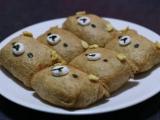 好可愛的懶懶熊豆皮壽司