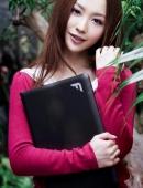 平面模特王婉珈方正筆記本廣告照
