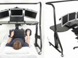 躺著也能用電腦的桌子