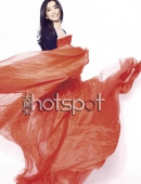 李冰冰爲世博會拍雜志封面 火紅紗裙嬌豔如花