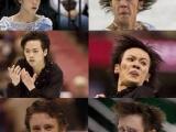 花式溜冰真是項恐怖的運動:左邊是選手正常的帥樣,右邊是比赛瞬間的蟀樣。