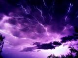 彩色閃電 紫光