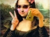 蒙娜麗莎的自拍照