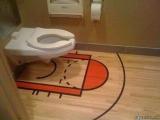 上廁所也要像在球場上...