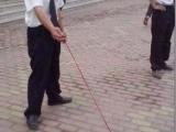 這是給保安新配發的軍犬!!! 通說是德國牧羊犬。瘋起來,兩三個人拉不住!!!