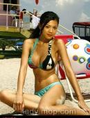 香港靓模周秀娜清涼寫真秀雙峰