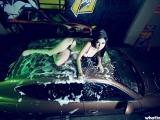 洗車女剛小希 在白色液體中激情