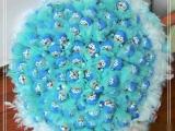 99只藍胖子做成的花束。。