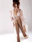 辦公室絲襪美腿美女腿模照片